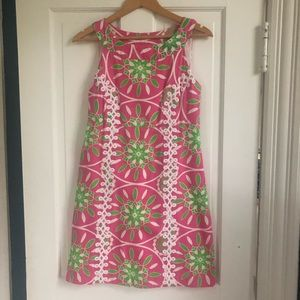 Lilly Pulitzer Jacqueline Dress 100% Silk, Size 4